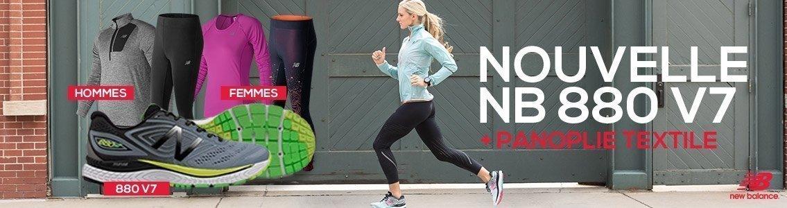 New Balance 880v7 + panoplie textile