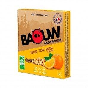 BAOUW Barres énergétiques bio | Agrume - Cajou - Piment de Jamaique | Pack de 3