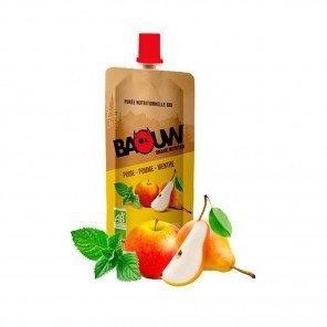 BAOUW Purée et compotes énergétiques bio | Poire - Pomme - Menthe | Pack de 20
